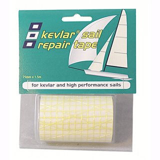 Kevlar Sail Repair Tape 75 mm 1.5 m gold / transparent