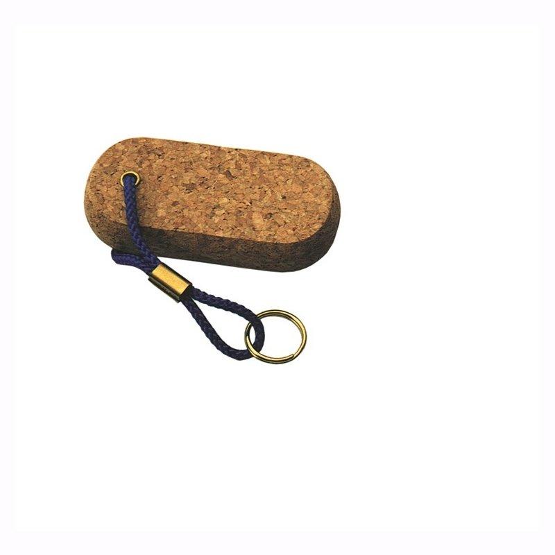 EKLS4 Schlüsselanhänger mit 1 Kork flach-oval