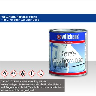 wilckens Hartantifouling in 0,75 oder 2,5 l Dose